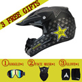 Бесплатная Доставка и 3 подарок новый мотоциклетный шлем мужская moto шлем высочайшее качество capacete мотокросс бездорожью мотокросс шлем DOT