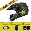 Frete grátis & 3 presente novo capacete da motocicleta mens moto capacete de alta qualidade capacete motocross off road motocross capacete dot