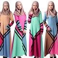 Турецкие женщины одежда джилбаба Абая Мусульманский Платье фотографии и abayas Моды Геометрическая заклинание цвет Исламский халат мусульманского платья