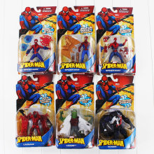 6 estilos Superhero Spiderman Veneno Lagarto carnificina PVC Action Figure Collectible Modelo Toy(China)
