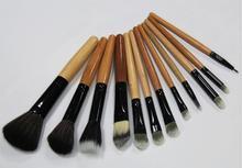 12PCS  Fashion Pro Makeup Brush Set Cosmetic Tool Leopard Bag Beauty Brushes Hot Selling