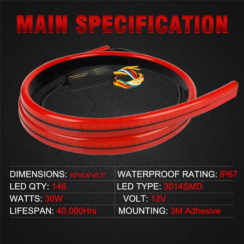 OKEEN 12 V Многофункциональный светодиодный третий тормозной фонарь лампа полоса 100 см задний стоп сигнал безопасности светодиодный предупреждаПредупреждение дополнительный стоп-сигнал