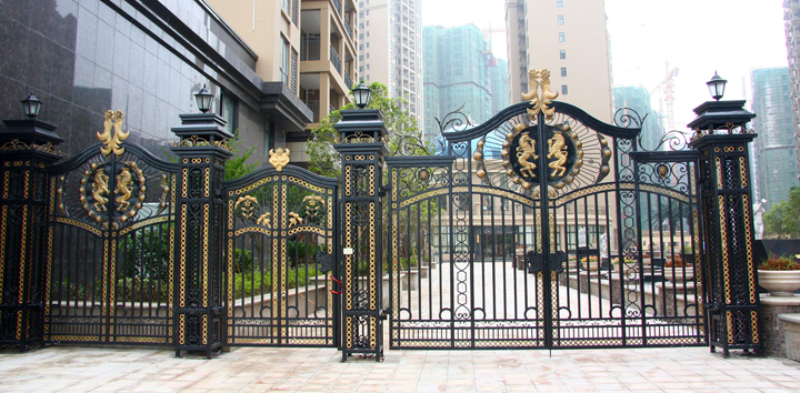 Aluminium Gates Driveway Gates Wrought Iron Gates Forged Iron Gates Hench-19