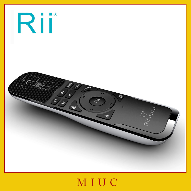 Rii i7 Mini Air Mouse 2.4GHz Wireless Remote Control Built-in 6 Axis for PC Smart tv Android Box PS3 Motion Sensing Gamer
