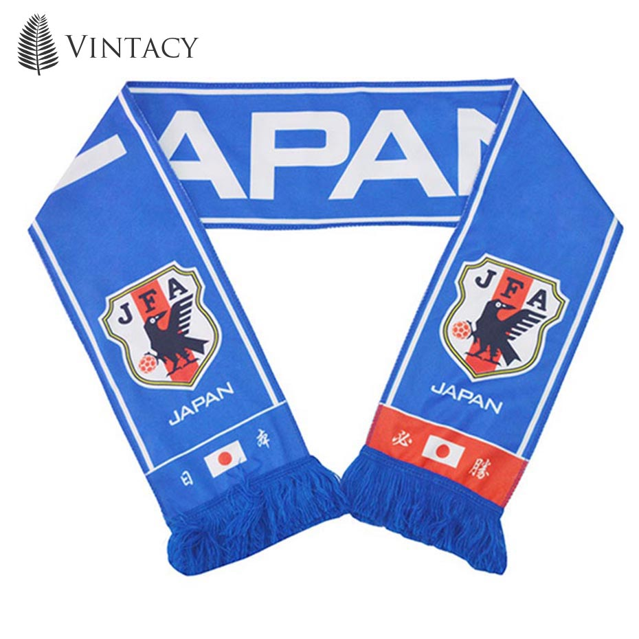 Vintacy Neck Scarf Blue Cotton Fashion Flag Banner Team New Arrival Fan Win Cheerleaders Soccer Hot Sale 2018