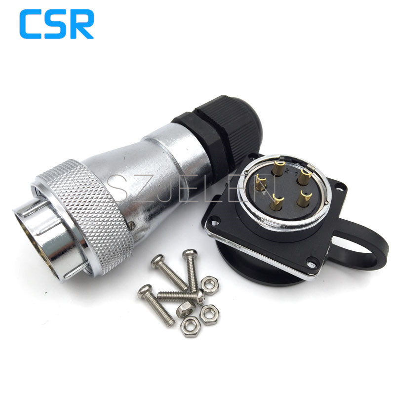 WF28 series Waterproof 5-pin connector, LED power Male and female connectors, 5 pin Automotive Waterproof Connectors IP67 sp2110 5 pin waterproof connectors plug and socket industrial power panel mount connectors waterproof and dustproof connector