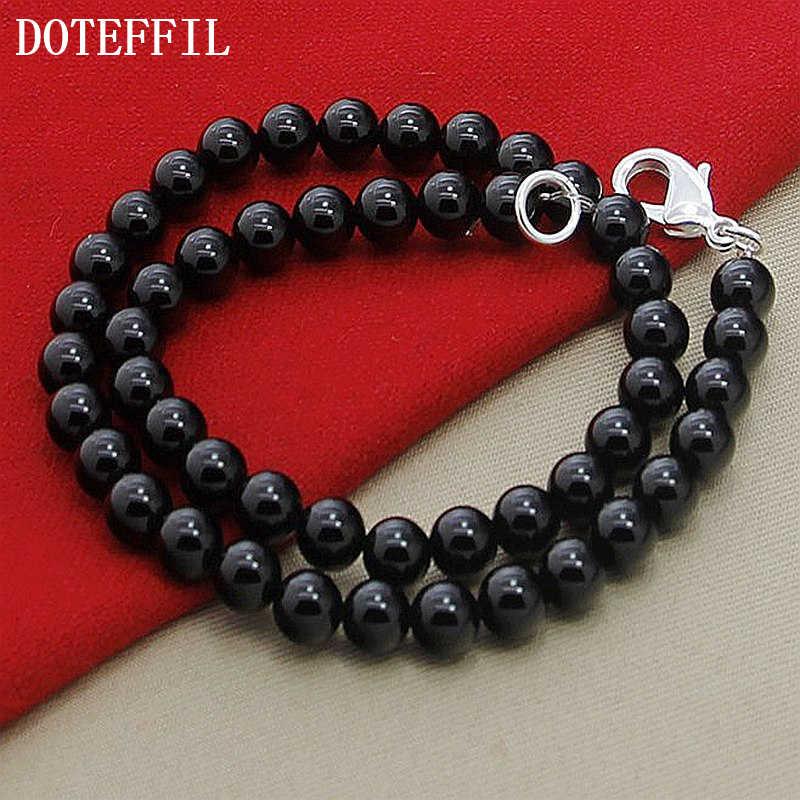 Prawdziwe słodkowodne naturalne perły naszyjnik na co dzień 8mm nowa perła 925 srebrny kolorowy naszyjnik 18 cali hodowane oryginalne perły Choker