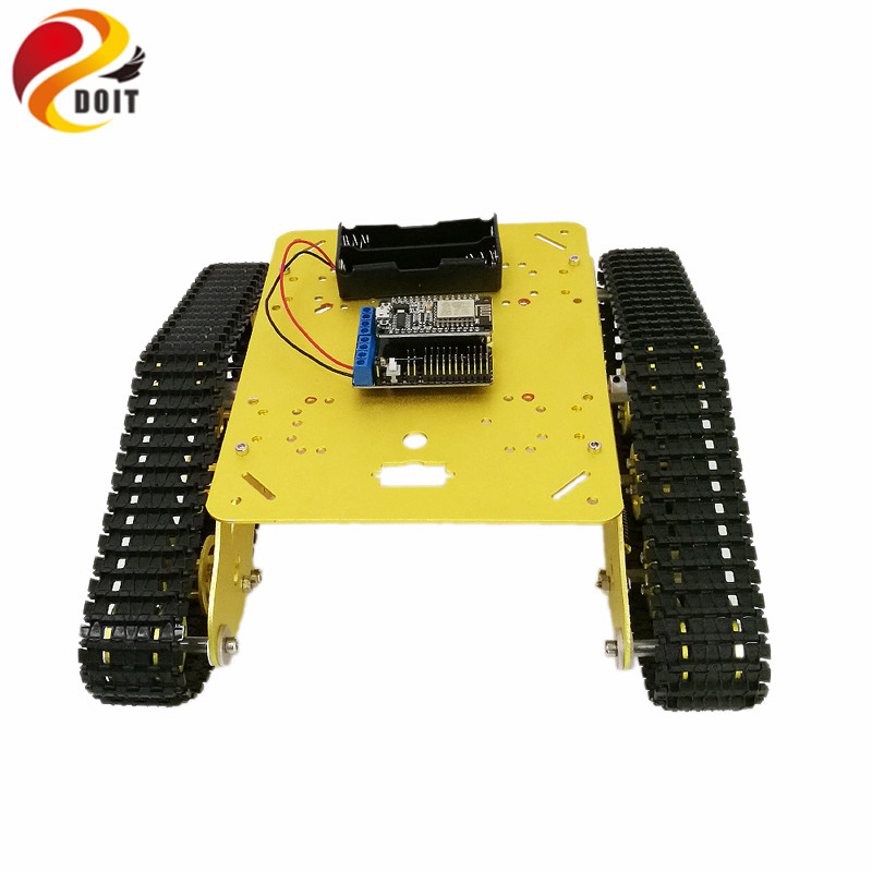 ts300 shock absorber rpbot tank car chassis with nodemcu development