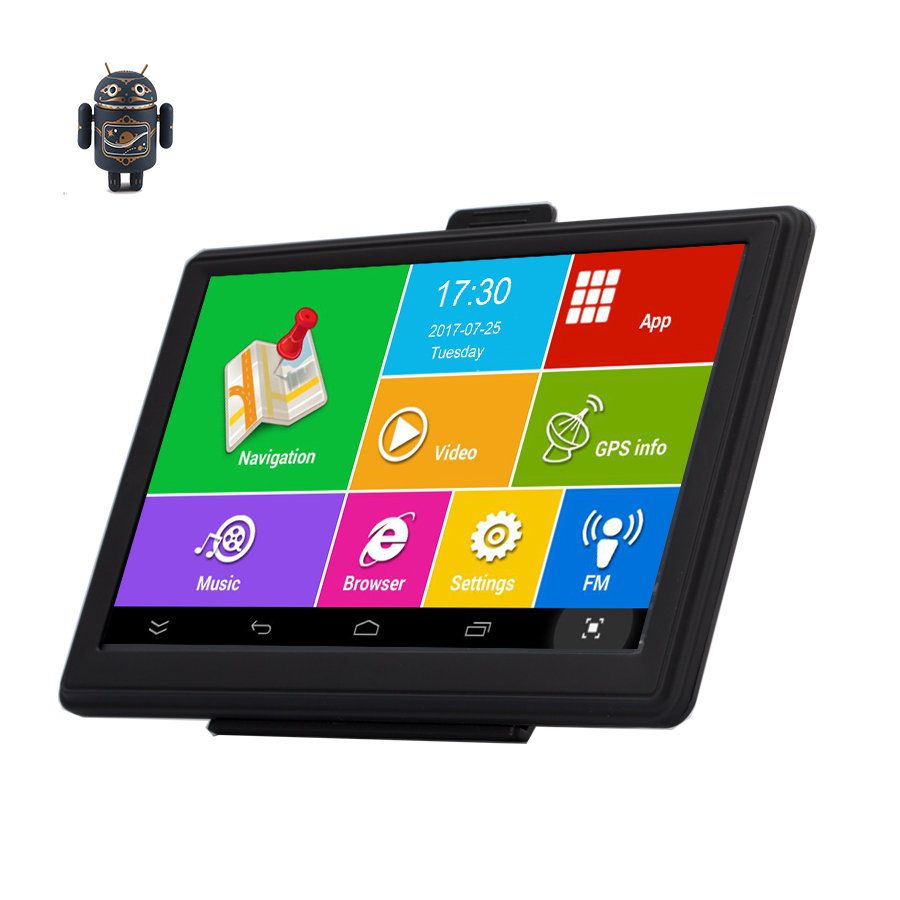 7 Android GPS Car Truck Navigation IPS Capacitive Bluetooth wifi 8G 512M AVIN Precise Localization vehicle