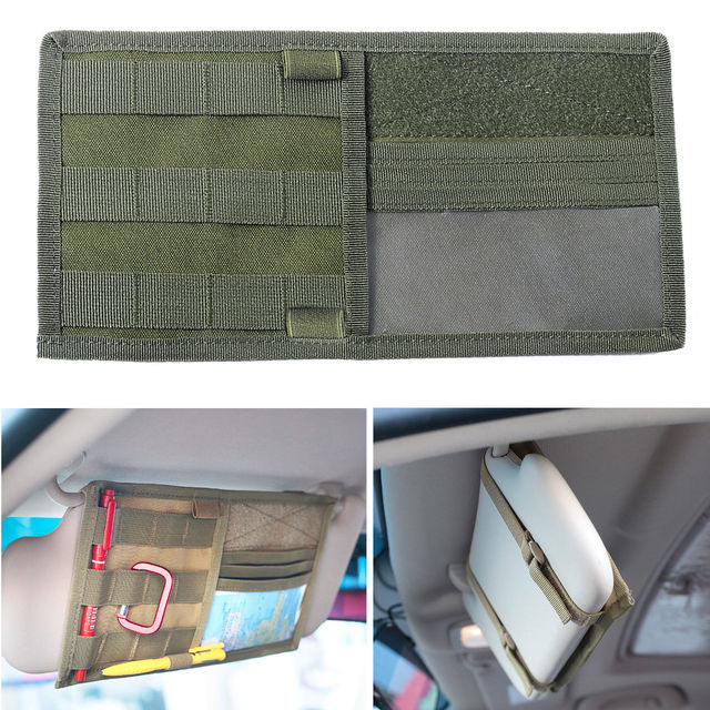 Tactical MOLLE Vehicle Visor Panel Truck Car Sun Visor Organizer CD Bag  Holder Pouch Auto Accessories a7d5bc5be14