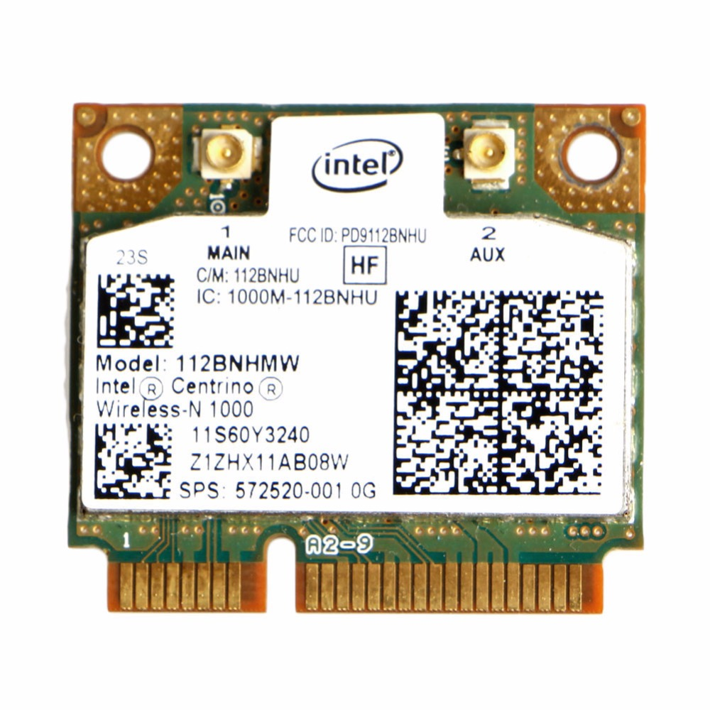 Intel Centrino Wireless-N 1000 802.11 b/g/n 112BNHMW Half PCI-E Mini Wifi Card C26(China)
