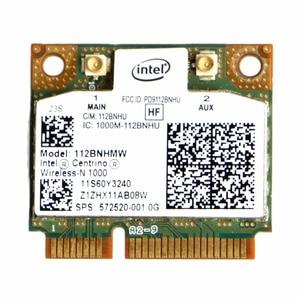 Intel Centrino wireless-n 1000 802.11 b/g/N 112 BNHMW pół PCI-E Mini Wifi karty C26