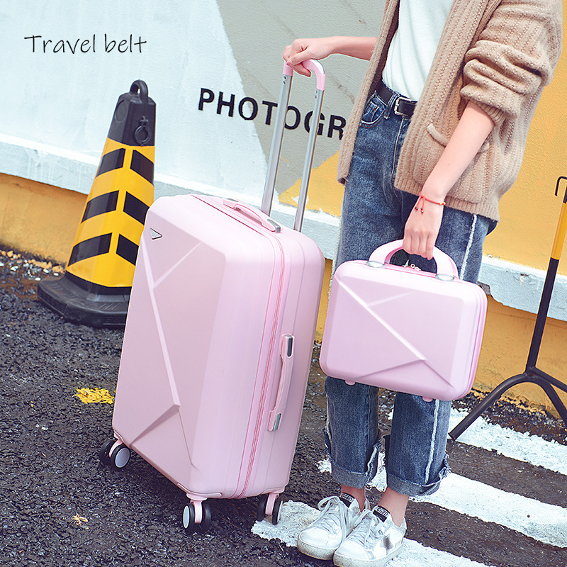 Light Weight And Compact Rolling Luggage Sets Spinner ABS Students Travel Bags 20 -28inch Cabin Password Suitcase Wheels