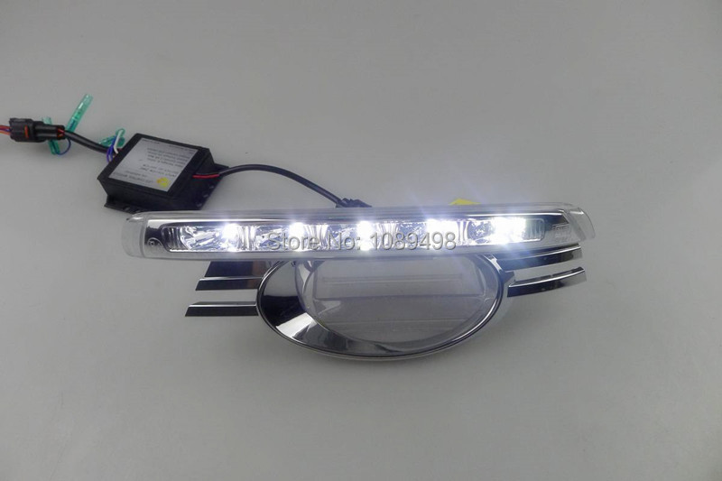 1 Set LED DRL daytime running lights driving fog lamps with dimming function case LH+RH for Mercedes Benz W204 C-class 2008-2010 car styling led drl for mercedes benz w204 c class c180 c200 c250 c260 c300 2008 2010 led bumper daytime running lights daylight