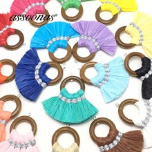 hot deal buy assoonas l144,tassel,raffia tassel,jewelry accessories,diy earring findings,accessories parts,jewelry making,hand made,2pcs/lot