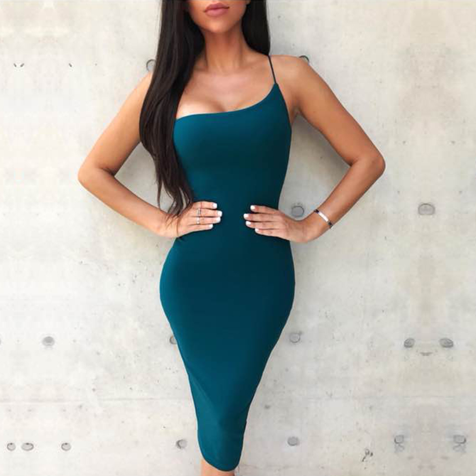 f87e0790dd90f US $27.87 35% OFF|Newest Celebrity Party Bandage Dress Women Black Red  Sleeveless One Shoulder Sexy Night Out Club Dress Women Vestidos-in Dresses  ...