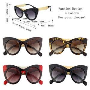 Image 5 - Солнцезащитные очки «кошачий глаз» женские, винтажные брендовые дизайнерские Роскошные солнечные очки в стиле ретро