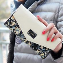 Women Coin Purses 2016 Korean Style Small Floral Design Long Wallet Female Change Purse Ladies Casual Clutch Bag Monederos Mujer