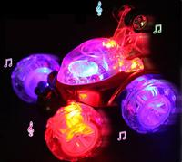 Superior Quality 360 Spin Fashion Stunt RC Car Music Remote Control LED Lights Rechargeable Dec19
