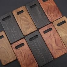 天然木製電話ケースサムスン S10 プラス S10 S10lite ケースカバーブラックアイス木材、クルミ、ローズウッド