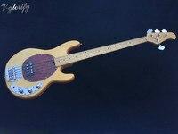 Новая флейм клен Топ 4 струнная музыкальная бас гитара