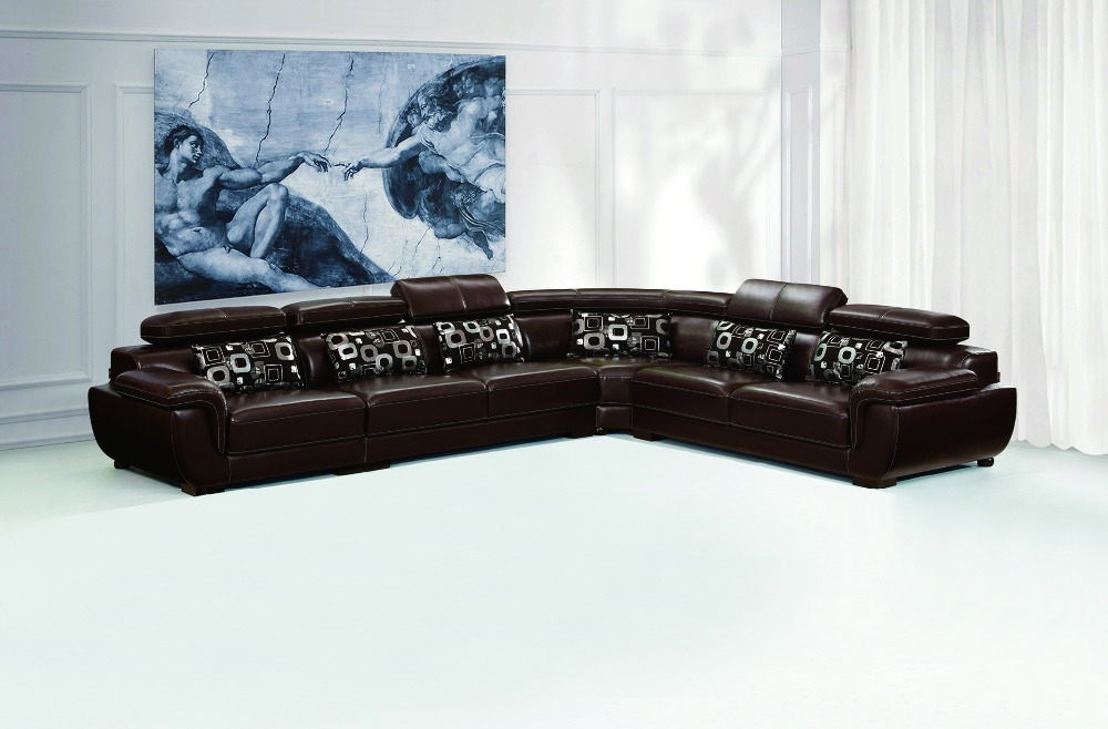 Strange Us 1695 0 Foshan Factory Direct Sale Brown Genuine Leather Corner Sofa Set On Aliexpress Creativecarmelina Interior Chair Design Creativecarmelinacom