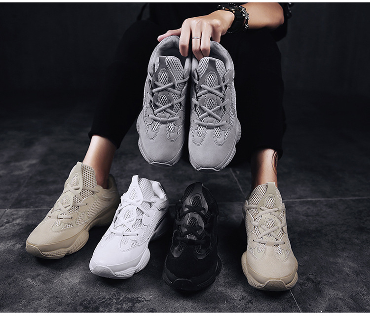 5ba03b519b1 Vintage dad sneakers 2018 kanye fashion west mesh light breathable ...