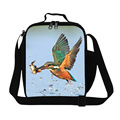 Cute birds insulated lunch bag for adults work, best insulated lunch bags for girls school,thermal food bag for women office