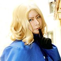 Anime APH Axis Powers Hetalia France Blonde Wavy Cosplay Wig