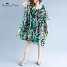 e2ca67077985cf BelineRosa 2019 Urlaub Strand Stil Chiffon Kleider Sommer Druck Plus Größe  Kleid Hawaii Strand Frauen Kleidung 5xl 6xlXMR00096