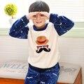 Meninos da criança Natal Pijamas Roupa Dos Miúdos Pijamas de Flanela Pijamas Crianças Adolescentes Nafantil Sleepwear Pijama Hulk 50N007