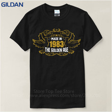 2017 Fashion 100%Custom Made Good Quality T Shirt Crew Neck  34Th Birthday In 1983 Gift Idea Short Shirts For Men