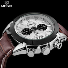 MEGIR Men s Sports Watch Military Chronograph Waterproof Wristwatches Relogio Masculino