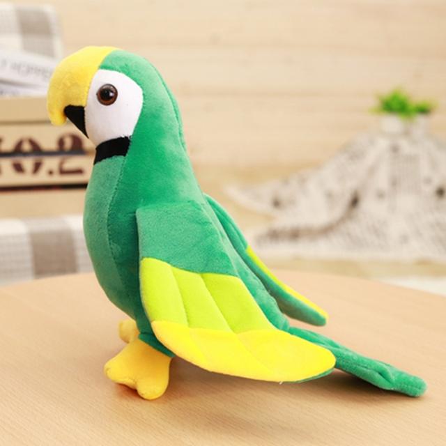 20/25cm Cute Plush Rio Macaw Parrot Plush Toy Stuffed Doll Bird Baby Kids Children Birthday Gift Home Shop Decor