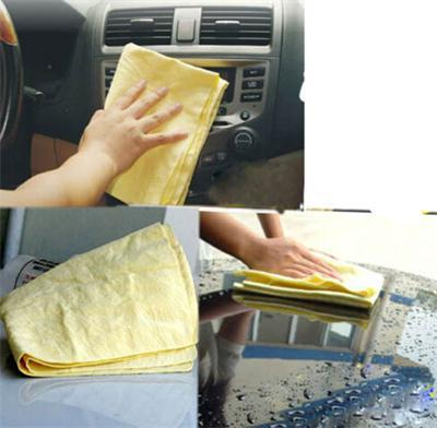 1x Car Cleaning Wash Towel Cham Synthetic Chamois Cloth In Multi Colors 43*32cm For Household Usekeep Hair Dry With Plastic Box