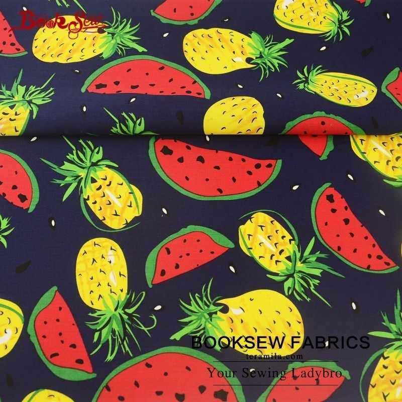 Booksew 100% хлопок Поплин Ткань фруктовый дизайн домашний текстиль высокой плотности шитье DIY для платья Крафтовая рубашка Скрапбукинг одежда