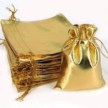 50pcs 7×9 9x12cm Silver Gold Organza Pouch