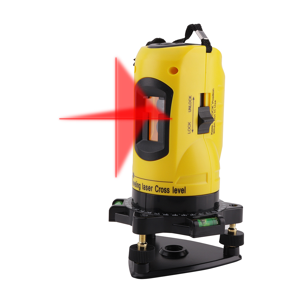 BORUiT Laser Level 650nm 2 Red Cross Line 1 Point 360 Degree Rotary Self- leveling Tilt Function Laser Diagnostic Tools touch upgrade 5 line 6 point super green laser level 360 degree rotary cross laser line level tilt mode self leveling