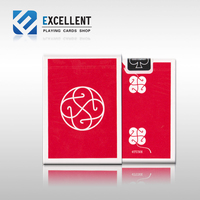 1Pcs RED Or BLUE 4Tune rARE boutique Poker Classic clover lucky flower cut Playing Card Magic Deck Props Magic Tricks