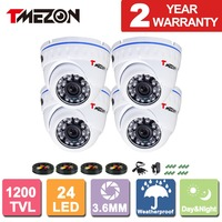 Tmezon 4x 800TVL 1 4 CCTV Security Camera IR Cut Dome Day Night Vision Outdoor Home
