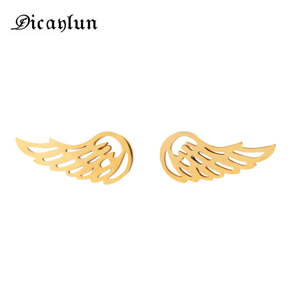 DICAYLUN jewellery stud minimalist earrings 2018 gifts for women earing fashion jewelry angel wing earrings angel wings