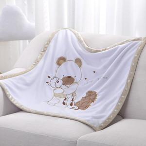 Image 4 - Baby Blankets Newborn Bebes Swaddling Wrap Quilts Funny Cartoon Winter Warm Toddler Infant Stroller Bedding Linen Covers 75*75cm