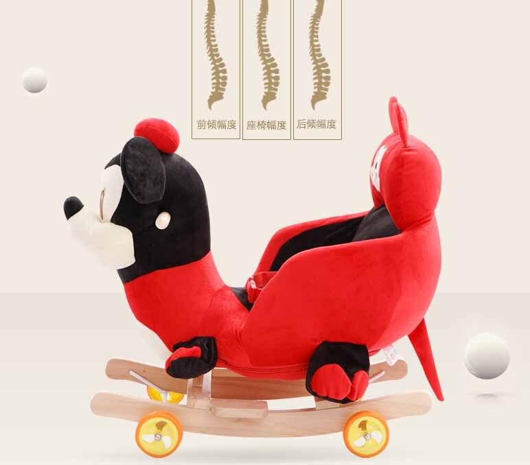 Детские качели плюшевая игрушка лошадь кресло качалка ребенка вышибала ребенка качели сиденье открытый детский бампер ребенок ездить на и... - 3