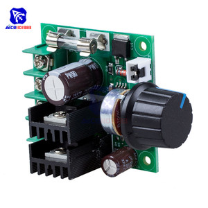 Image 5 - Diymore dc 12  40 v 10A pwm dc モータ速度制御スイッチコントローラモジュール電圧レギュレータ調光器/w ヒューズロータリーポテンショメータ