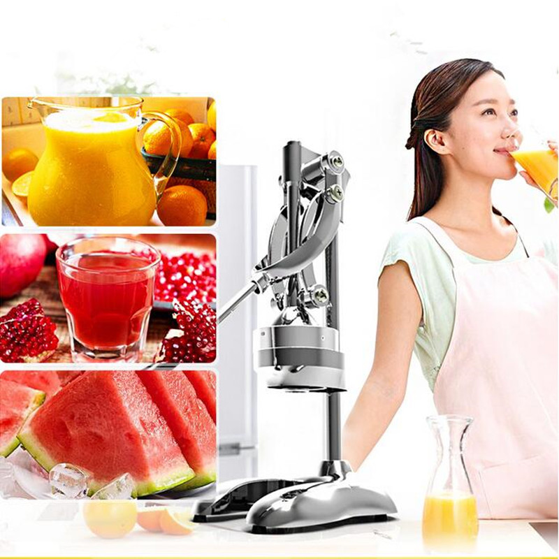 Manual Hand Commercial Stainless Steel Juicer Squeezer Citrus Lemon Orange Pomegranate Fruit Juice Extractor Pressing Mach 77usd free shipping stainless steel juicer squeezer hand operated food tool upgraded manual juice presser