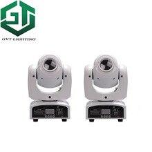 2 pçs/lote cor branca shell 60 W LED Spot Moving Head Luz alto brilho 60 W LEVOU Spot Light DJ 60 Watt luzes gobo moving heads