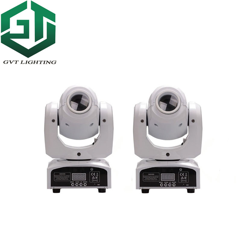 2pcs/lot White Color Shell 60W LED Spot Moving Head Light High Brightness 60W LED DJ Spot Light 60 Watt Gobo Moving Heads Lights