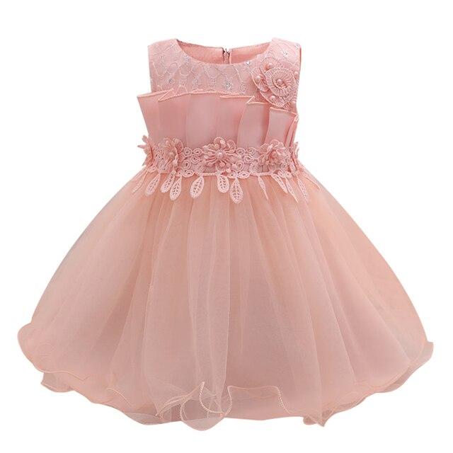 Rosa Kleinkind Mädchen Sommer Party Kleid 1 Jahre Baby Mädchen ...