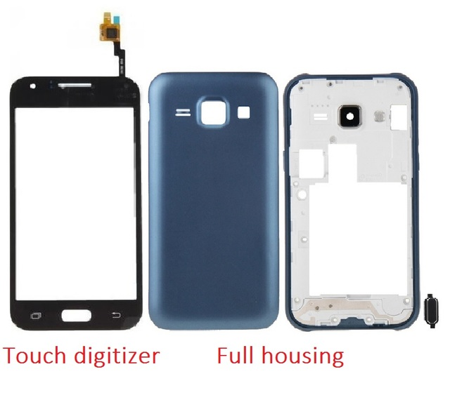 For Samsung Galaxy J1 SM-J100F J100 Front Chassis Frame+Back Battery Cover+Touch Screen Digitizer Sensor+Adhesive+Kits