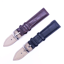 Watch Band Genuine Leather Straps 14 16 18 20 22mm Watch Accessories High Quality Brown Colors Watchbands все цены
